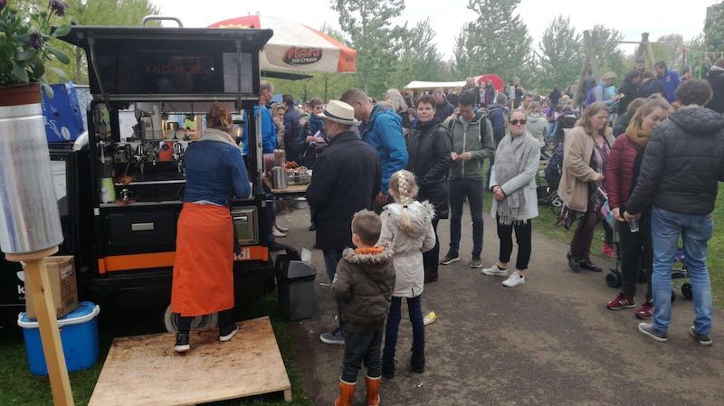 koffie bar op een festival